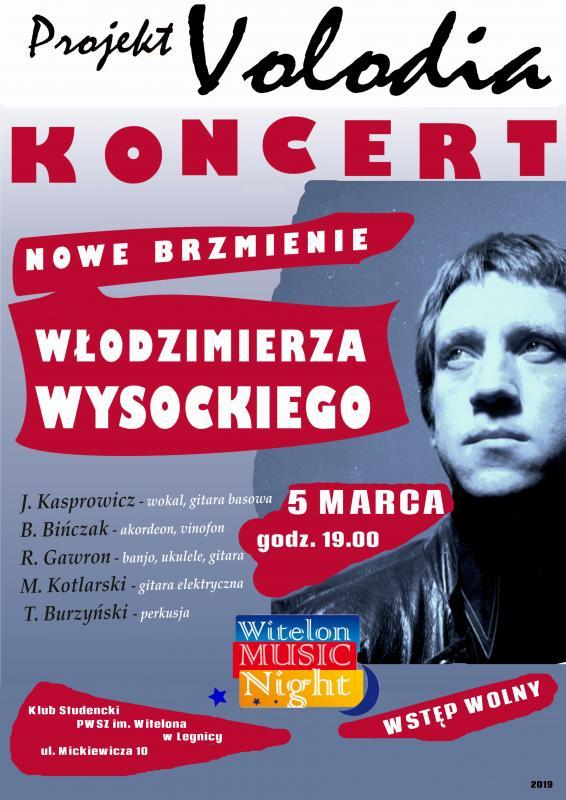 Projekt Volodia na scenie Witelon Music Night